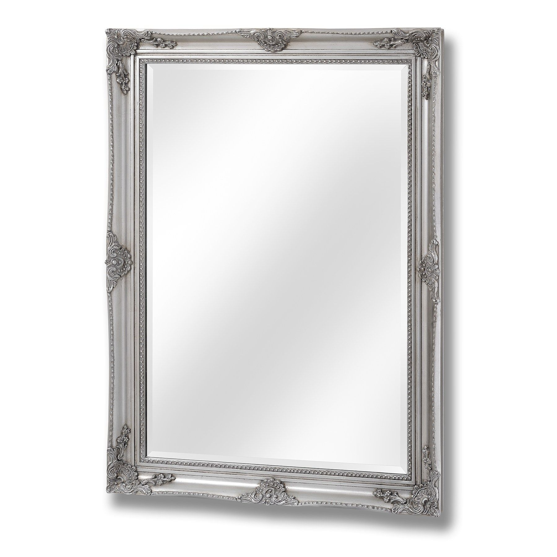 Antique Silver Baroque Style Mirror With Baroque Style Mirror (Image 4 of 15)