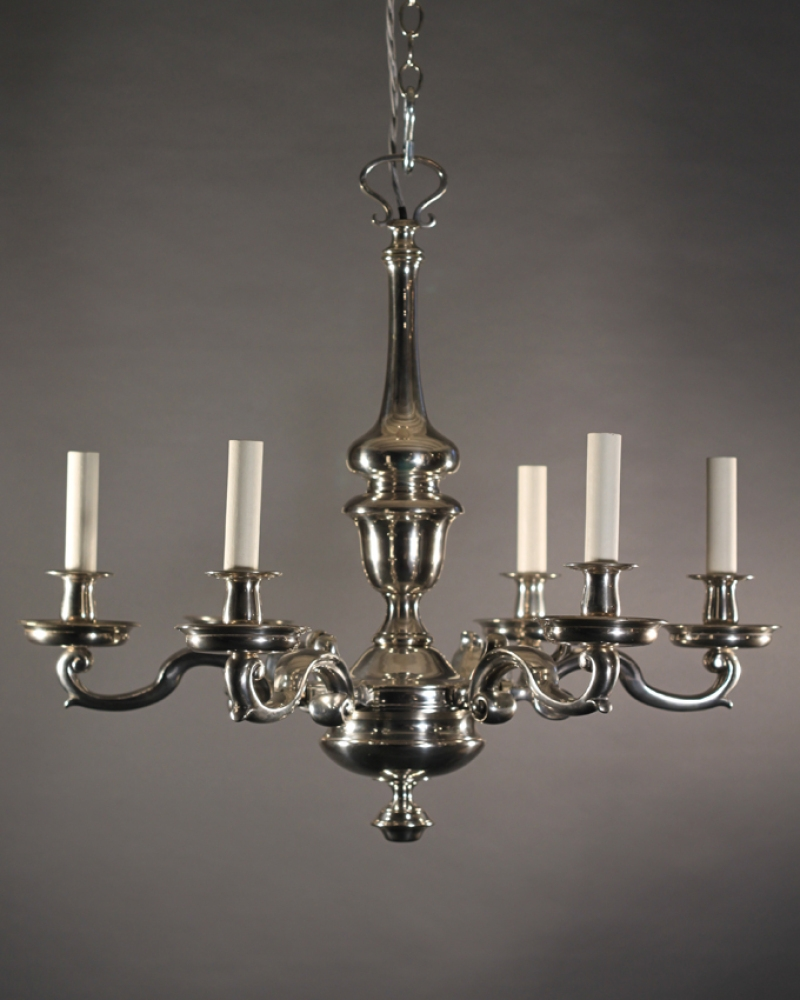 Antique Silver Chandelier Antique Furniture Regarding Silver Chandeliers (View 11 of 15)