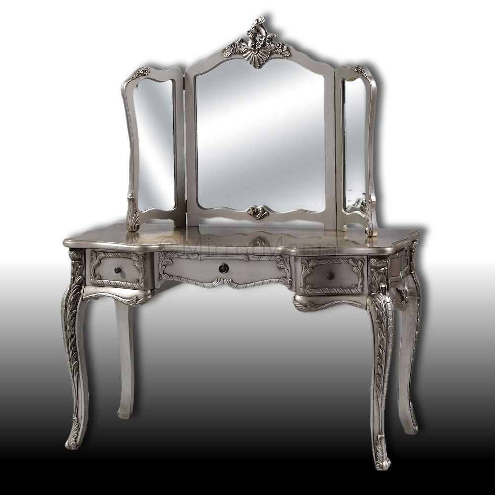Antique Silver Dressing Table Sets Best Antique 2017 Pertaining To Silver Dressing Table Mirror (Image 2 of 15)