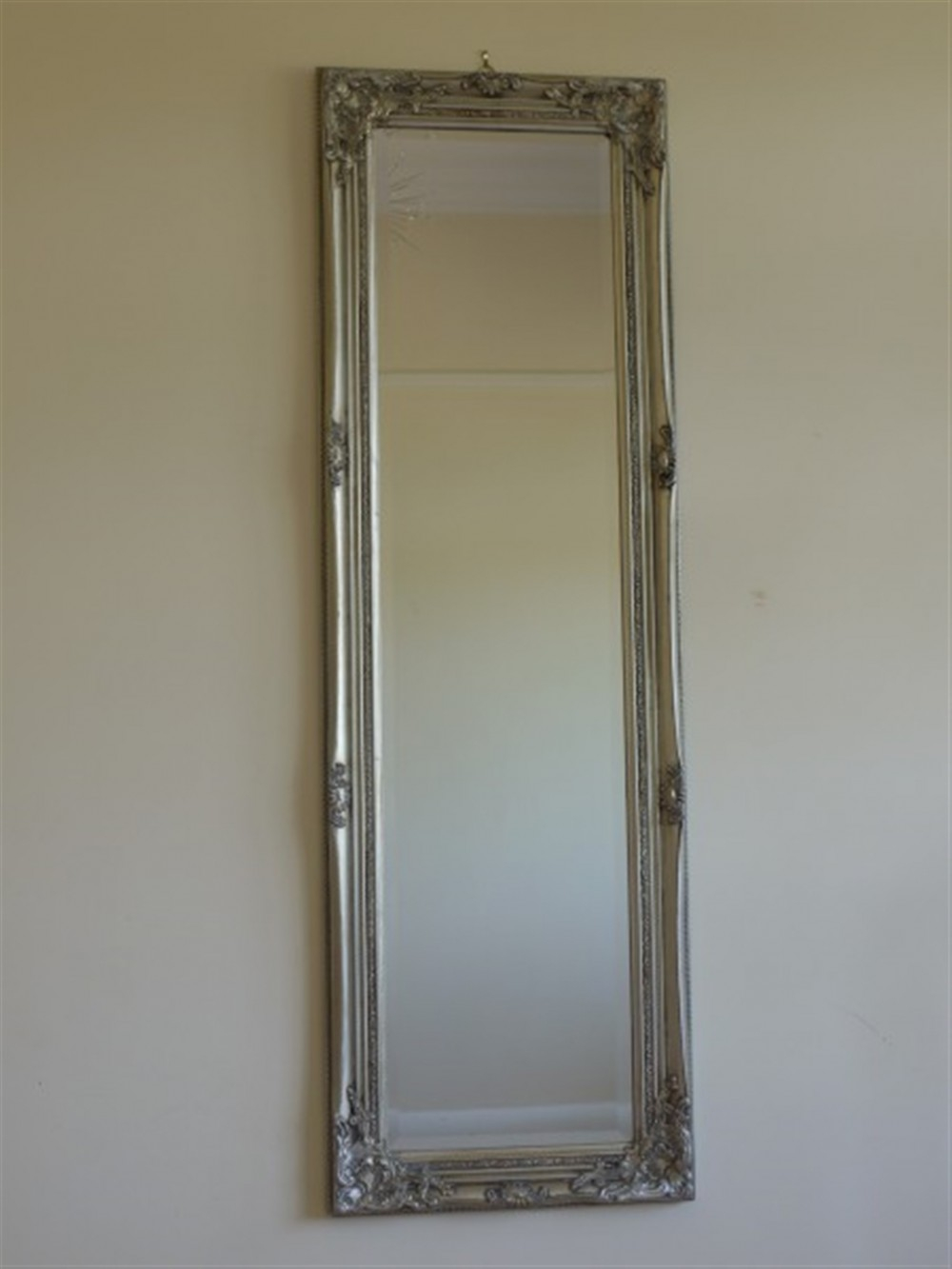 Antique Silver Long Mirror 40x130cm Somerset South West Home Living Throughout Long Silver Mirror (Image 3 of 15)