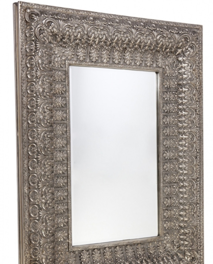 Antique Silver Ornate Wall Mirror Allissias Attic Vintage Throughout Antique Style Mirrors Wall (Image 1 of 15)