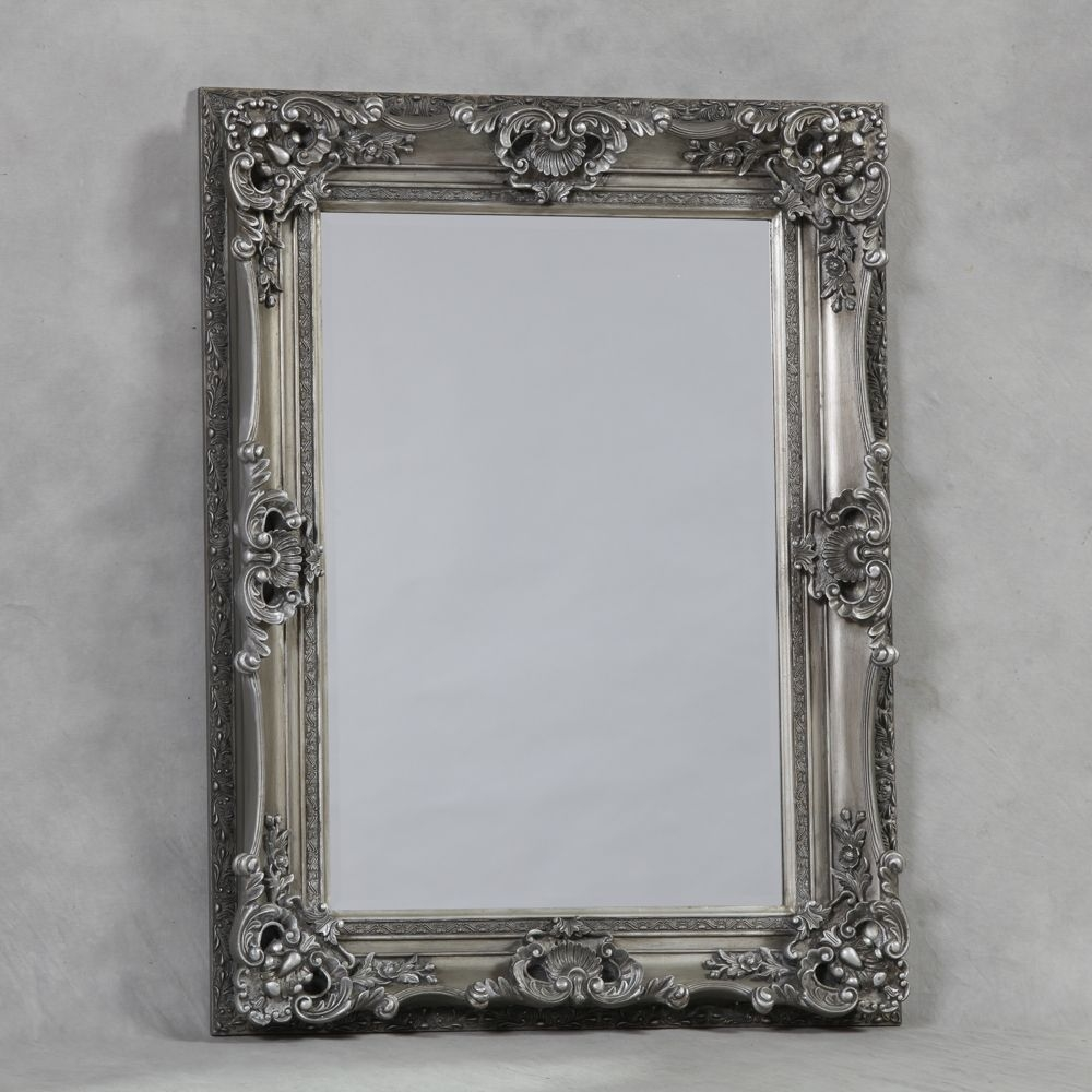 Antique Silver Small Regal Mirror Pertaining To Silver Vintage Mirror (Image 1 of 15)