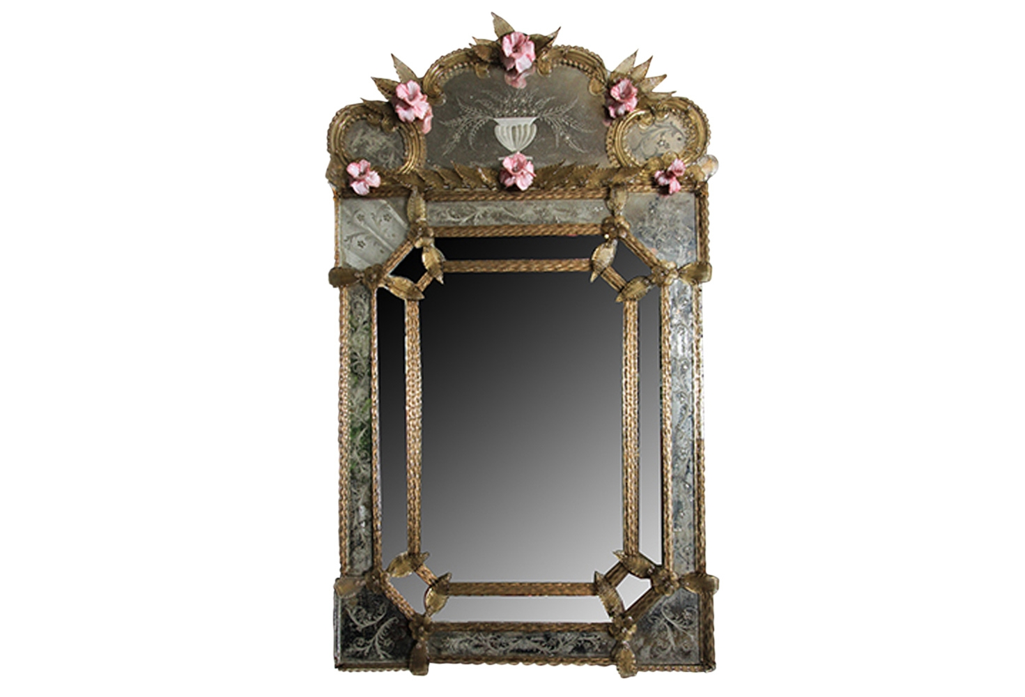 Antique Venetian Glass Mirror Inside Venetian Glass Mirrors Antique (Image 1 of 15)