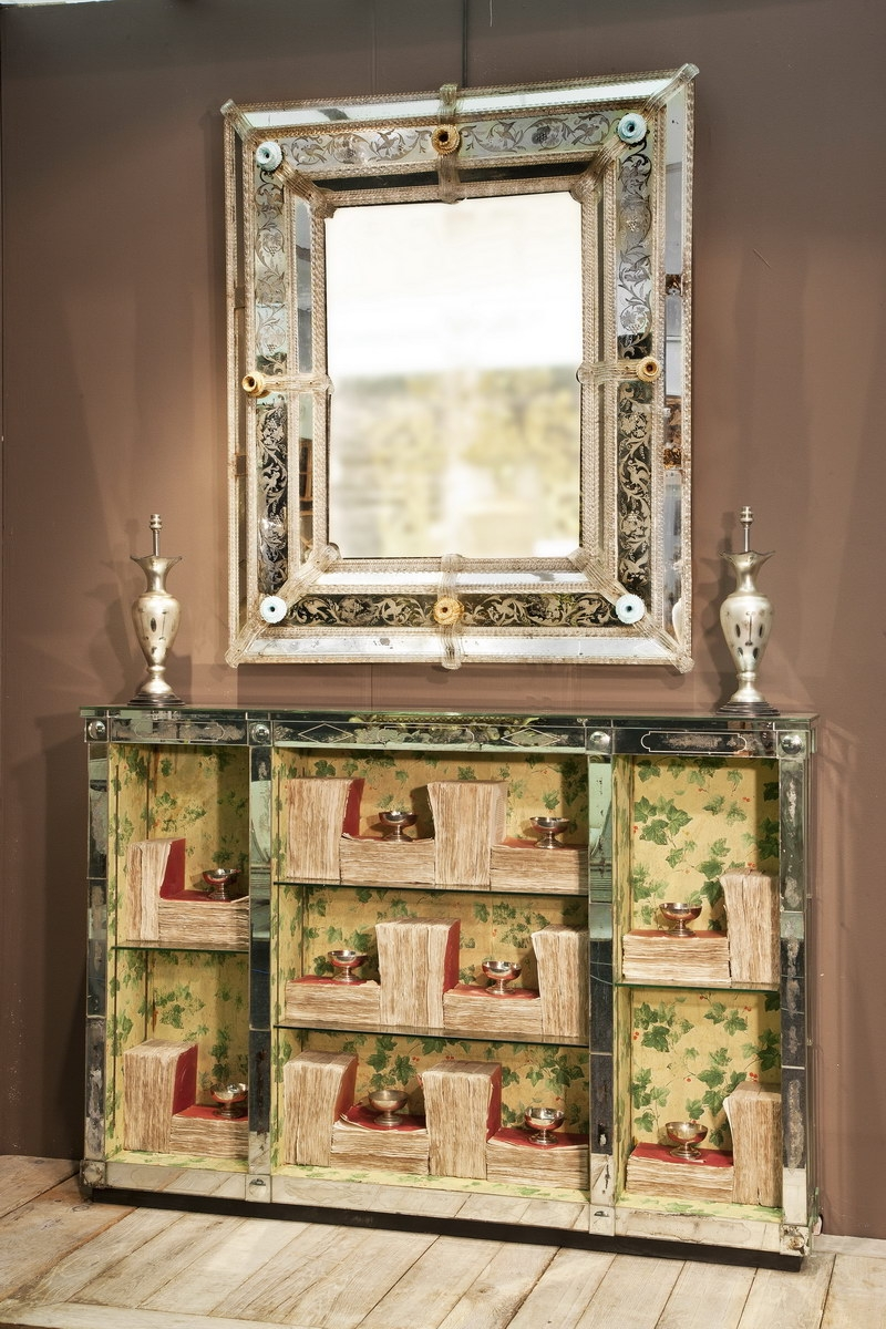 Antique Venetian Mirror Mirrors Frames The Decorative Fair Regarding Antique Venetian Mirror (Image 6 of 15)