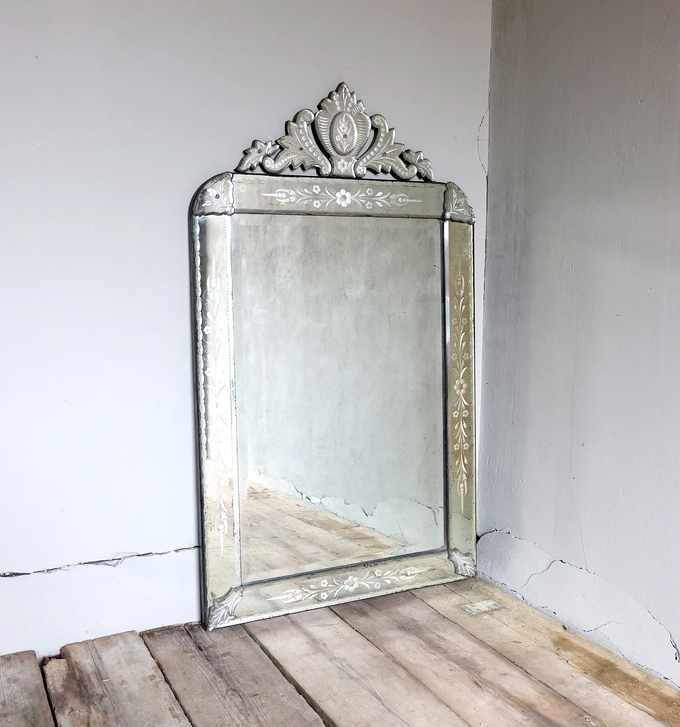 Antique Venetian Mirror Puckhaber Decorative Antiques With Antique Venetian Mirror (Image 7 of 15)