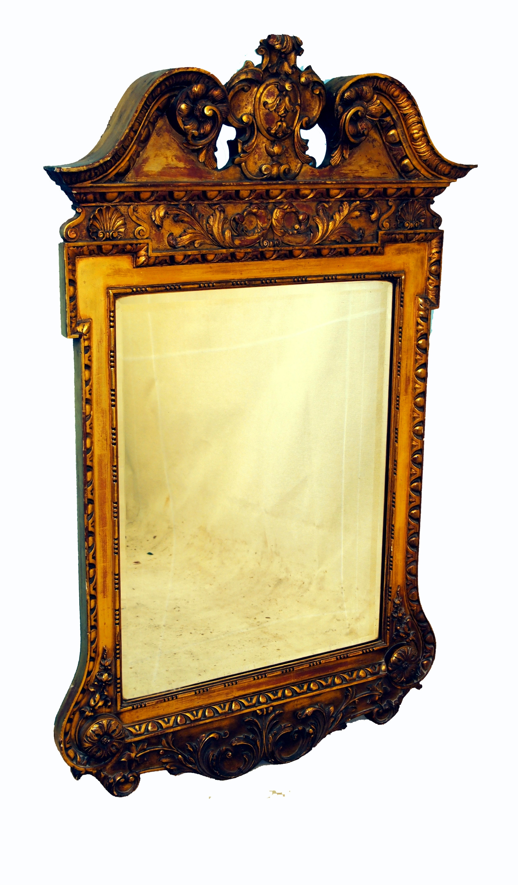 Antique Victorian Gilt Wall Mirror In The Manner Of William Kent Pertaining To Victorian Mirrors Antique (Image 6 of 15)