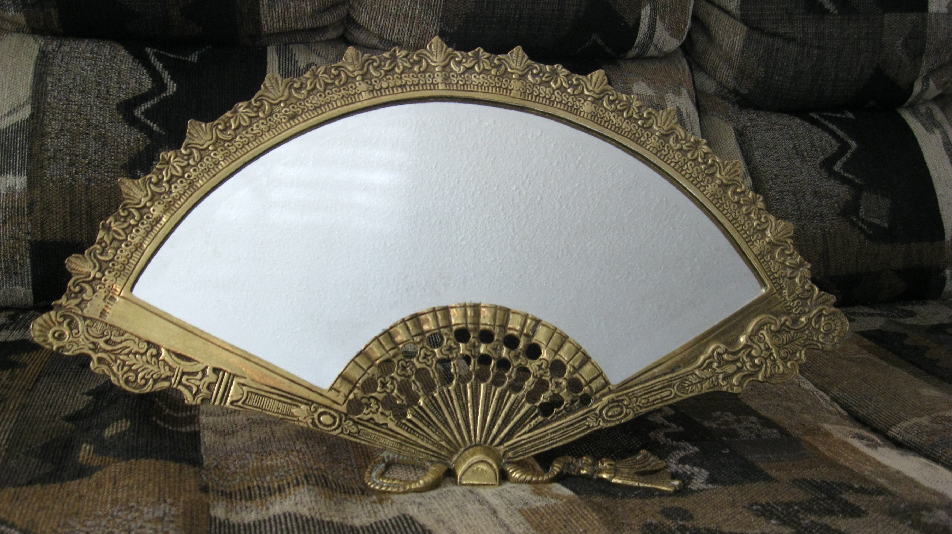 Antique Victorian Solid Brass Fan Mirror Antique Appraisal Regarding Victorian Mirrors Antique (Image 8 of 15)