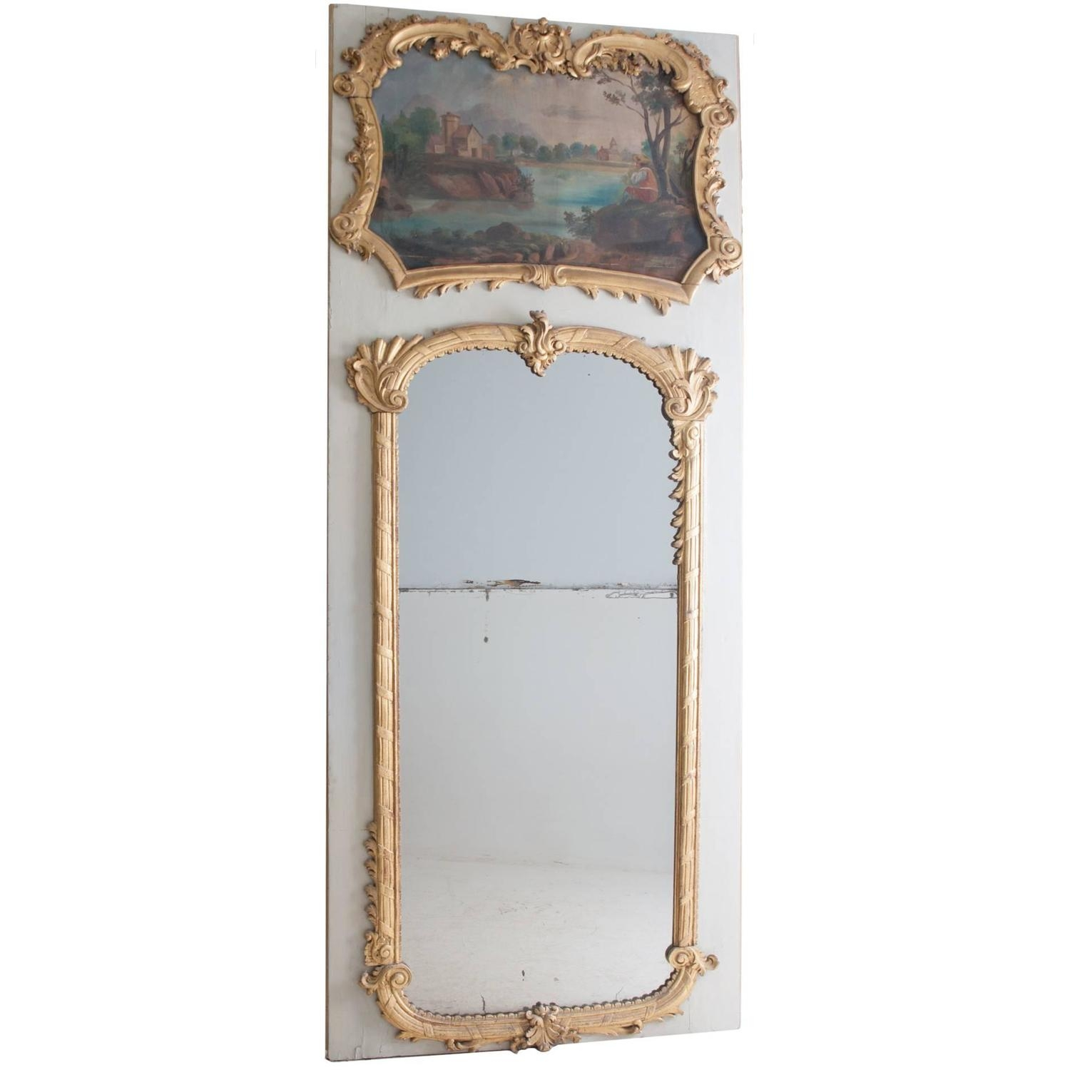 Antique Vintage Floor Mirrors And Full Length Mirrors For Sale With Regard To Vintage French Mirrors (View 6 of 15)