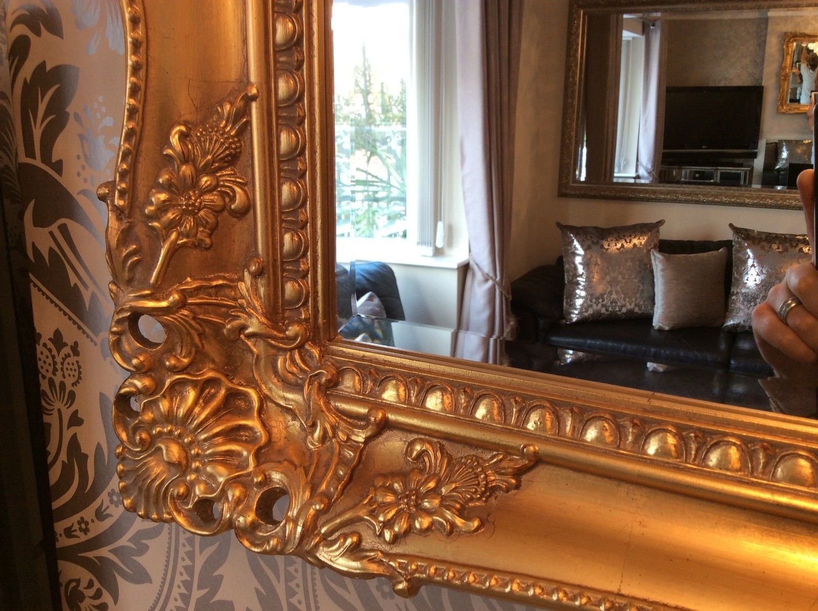 Antique Wall Mirrors Decorative Inarace With Antique Gold Mirrors Large (Image 4 of 15)