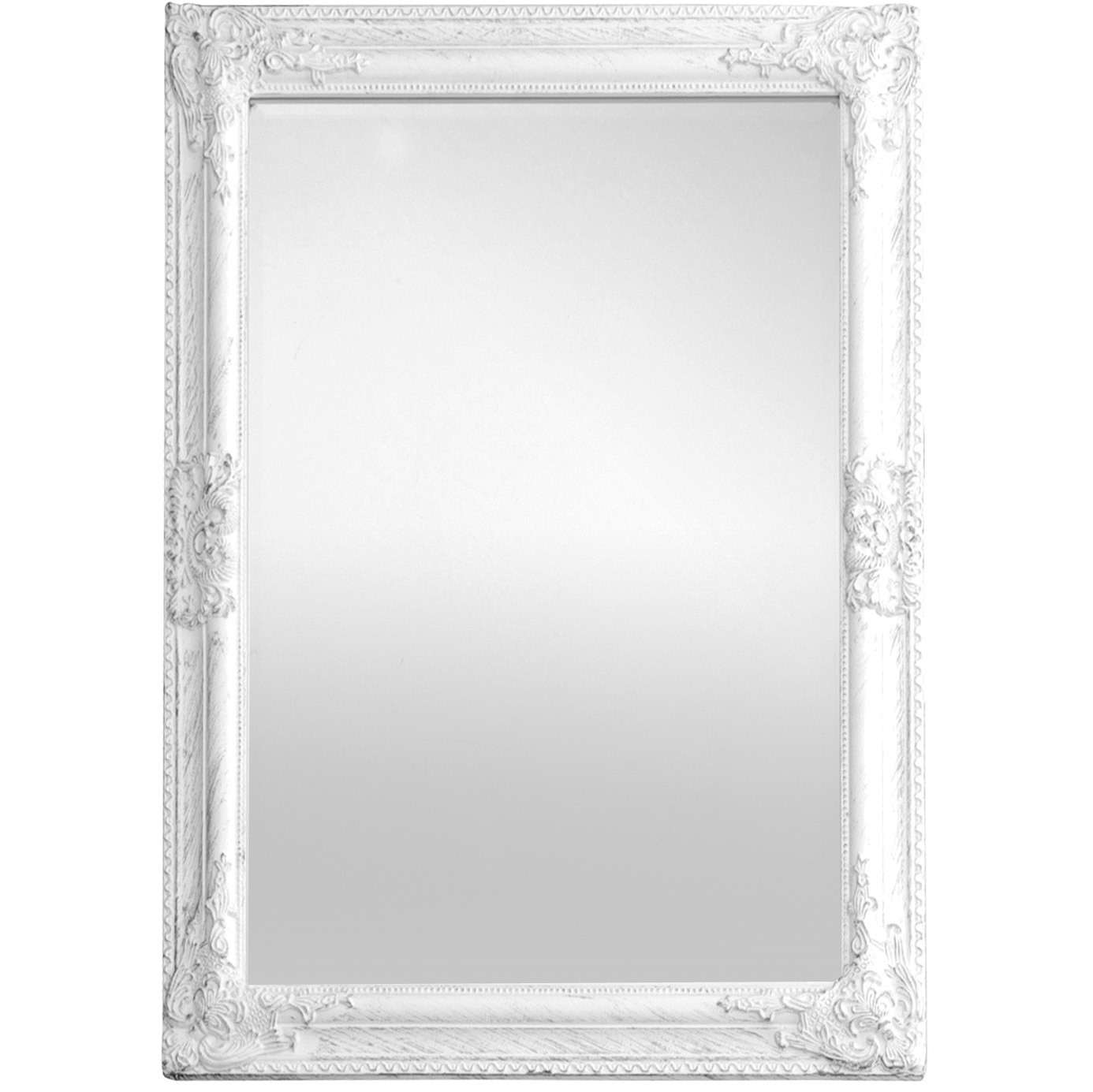 Antique Wooden Framed Mirror White For White Antique Mirror (Image 3 of 15)
