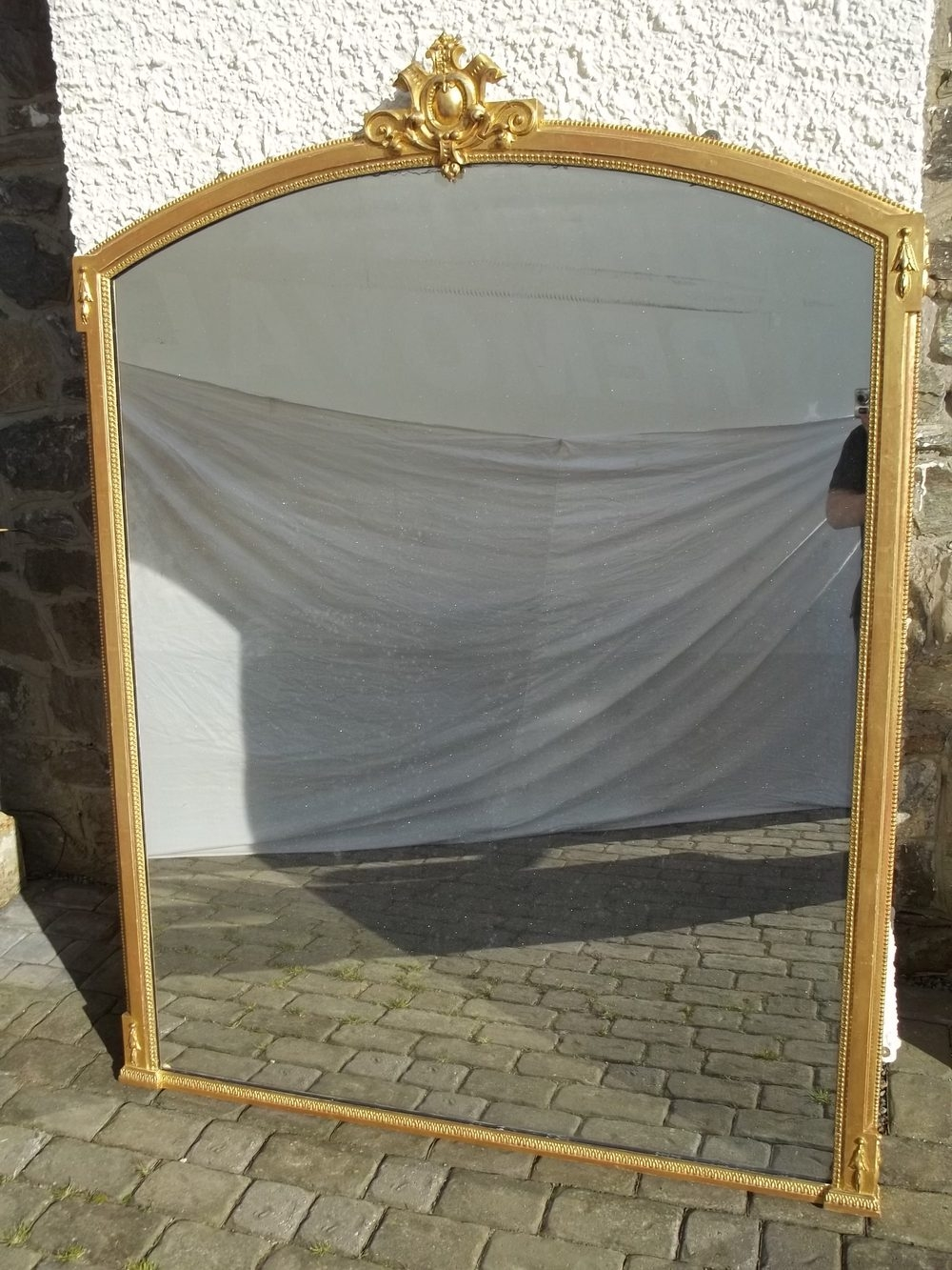Antiques Atlas Antique Large Gilt Wood Overmantle Mirror With Wooden Overmantle Mirror (View 4 of 15)