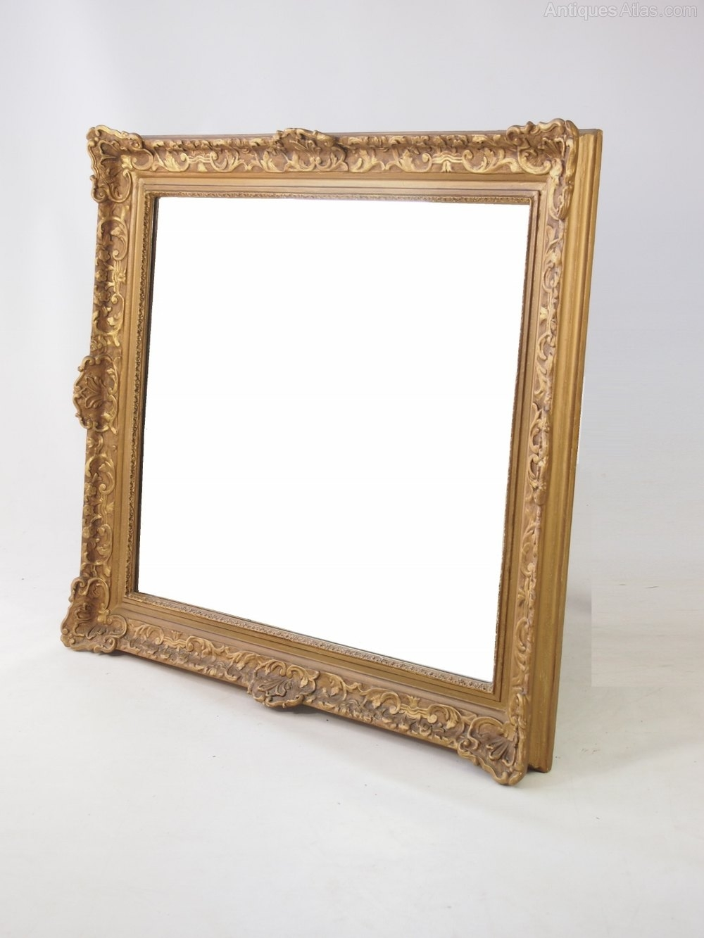 Antiques Atlas Large Gilt Framed Wall Mirror For Large Gilt Framed Mirror (Image 4 of 15)