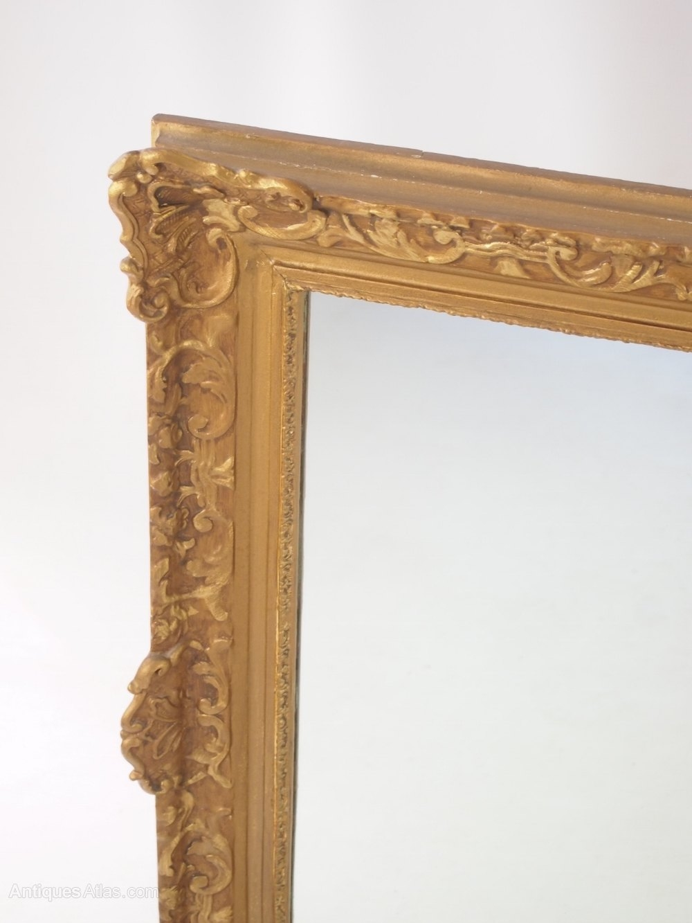 Antiques Atlas Large Gilt Framed Wall Mirror Pertaining To Large Gilt Framed Mirror (Image 5 of 15)