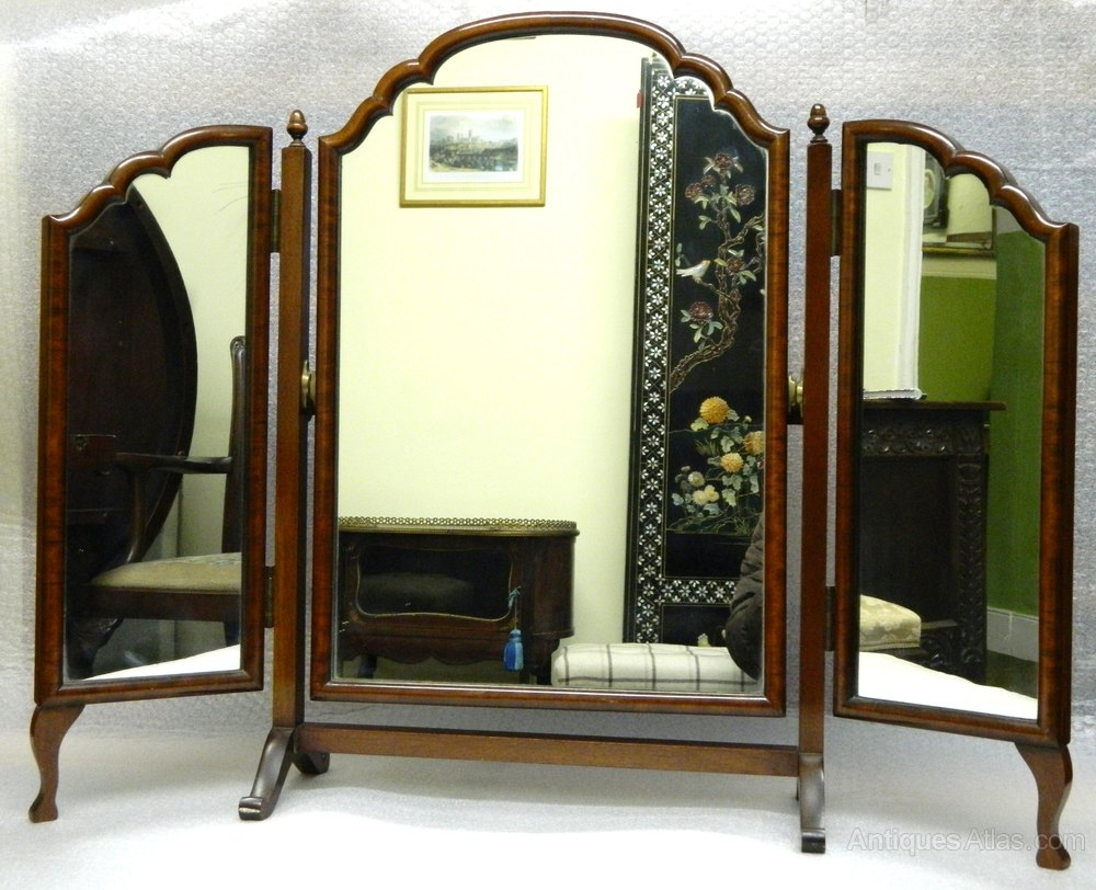 Antiques Atlas Mahogany Triple Dressing Table Mirror Intended For Antique Triple Mirror (Image 6 of 15)