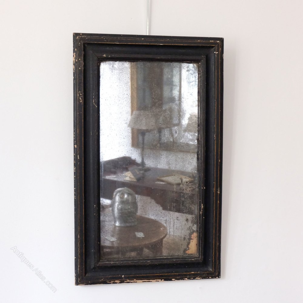 Antiques Atlas Petite Antique Black Mirror In Antique Black Mirror (Image 5 of 15)