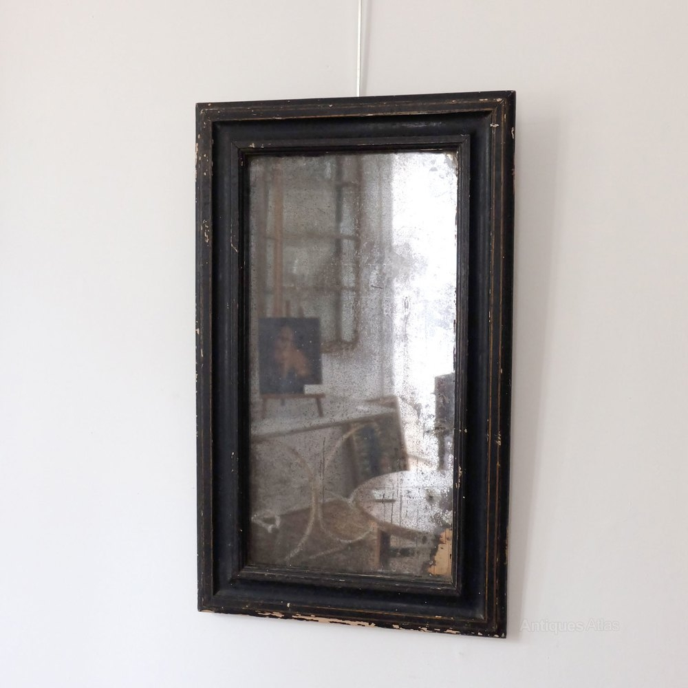 Antiques Atlas Petite Antique Black Mirror In Antique Black Mirror (Image 6 of 15)