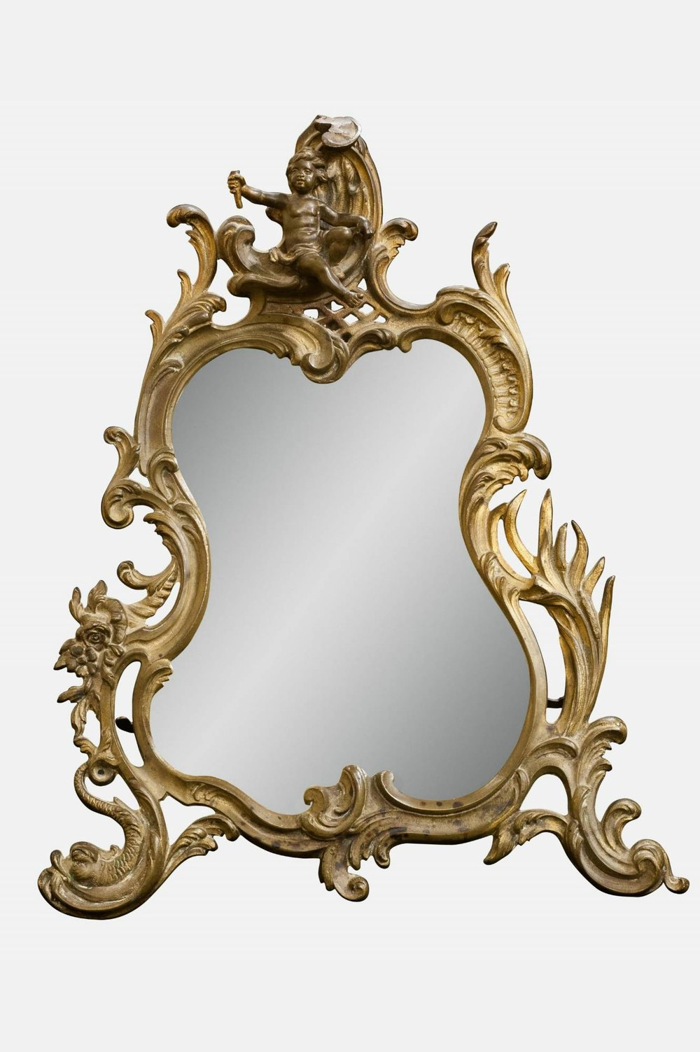 Antiques Atlas Rococo Style Easel Mirror Throughout Rococo Style Mirrors (Image 3 of 15)