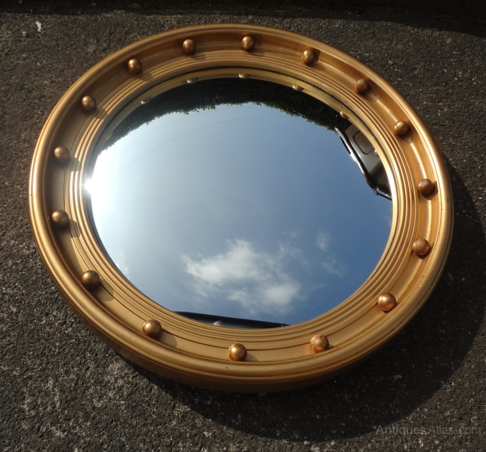 Antiques Atlas Vintage Convex Mirror Throughout Antique Convex Mirrors For Sale (Image 6 of 15)