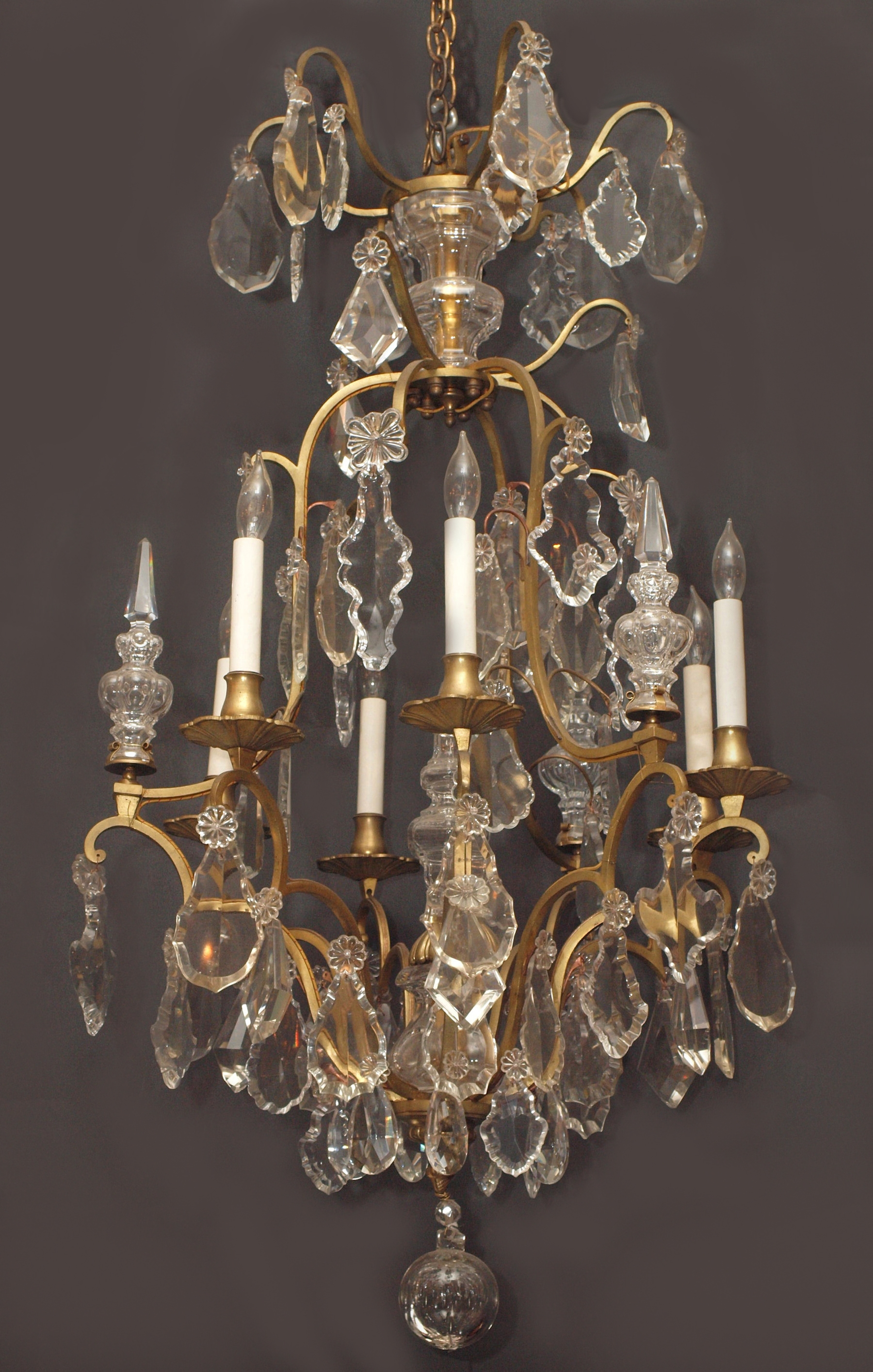 Antiques Classifieds Antiques Antique Lamps And Lighting Inside French Chandeliers (Image 2 of 15)