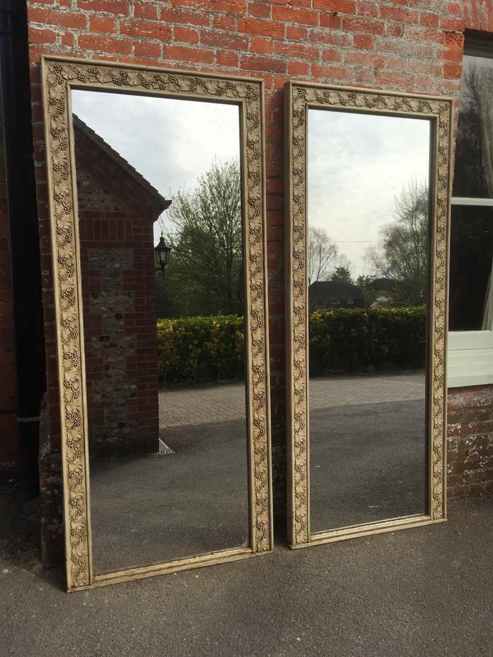 Large Wooden Mirror For Sale