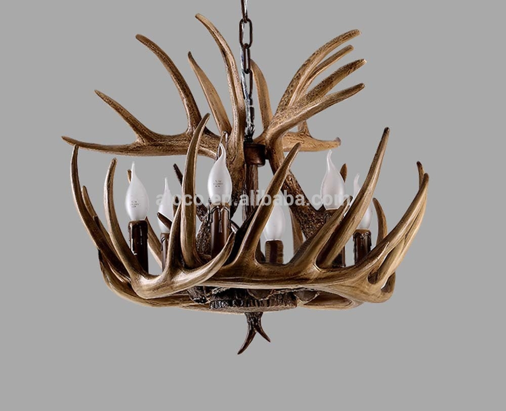 Antler Chandelier Antique Decorative Pendant Light Deer Antler Intended For Modern Antler Chandelier (Image 1 of 15)