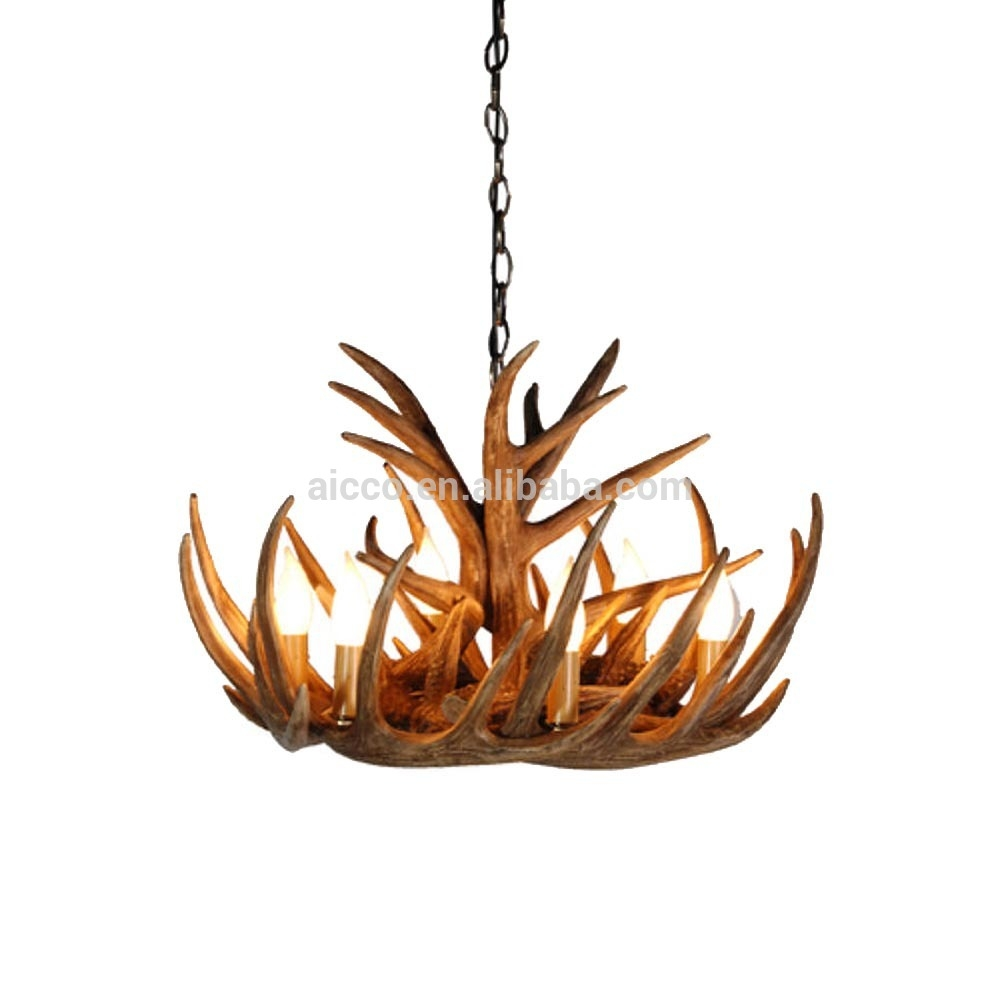 Antler Chandelier Antique Decorative Pendant Light Deer Antler Regarding Modern Antler Chandelier (Image 3 of 15)