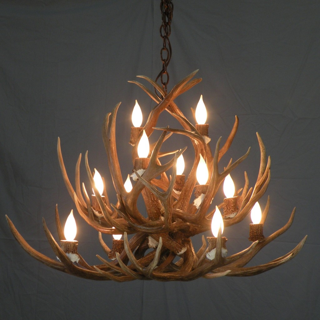 Antler Chandelier Kit Lightupmyparty Inside Antlers Chandeliers (Image 1 of 15)