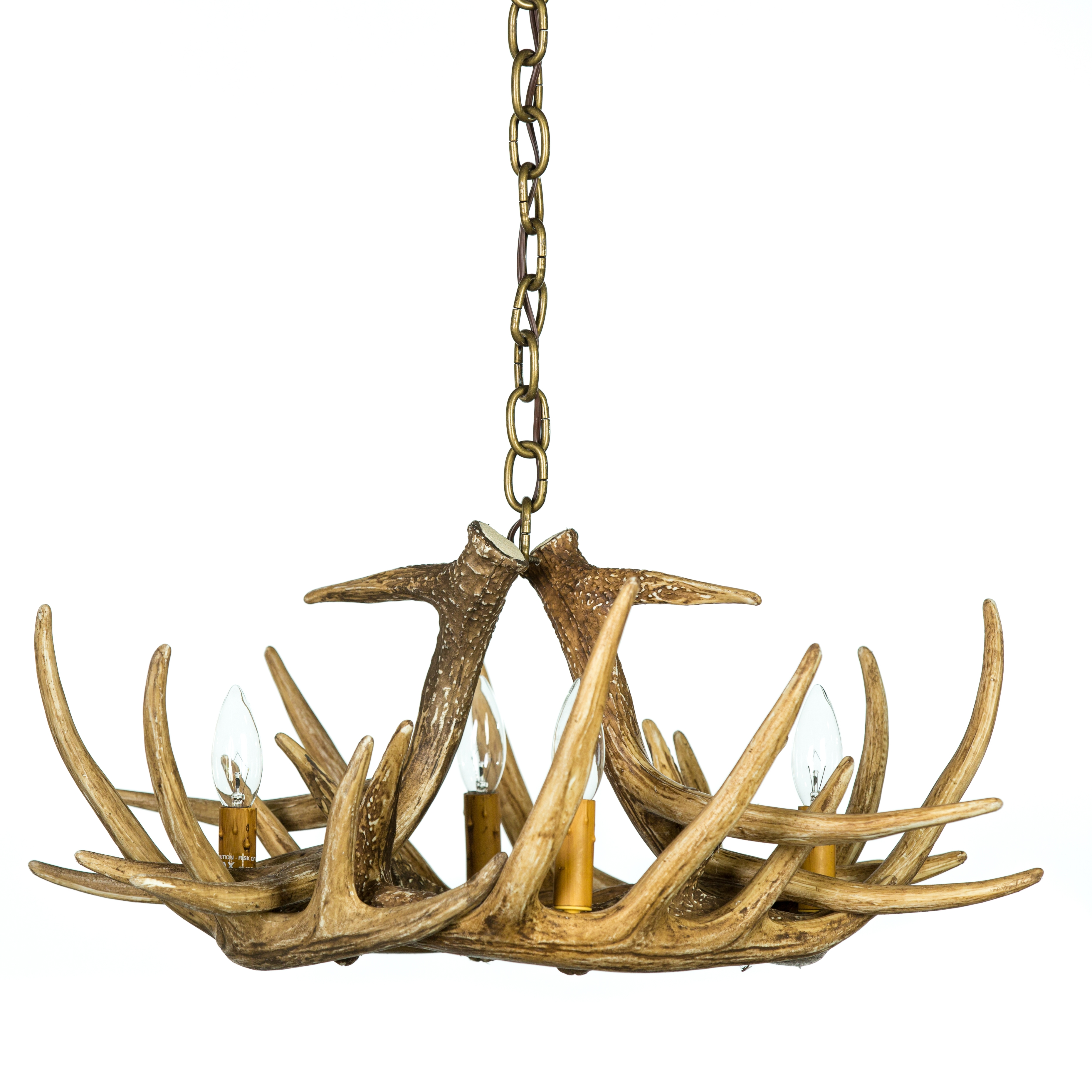 Antler Chandeliers Cast Horn Designs Within Antler Chandeliers (Image 3 of 15)