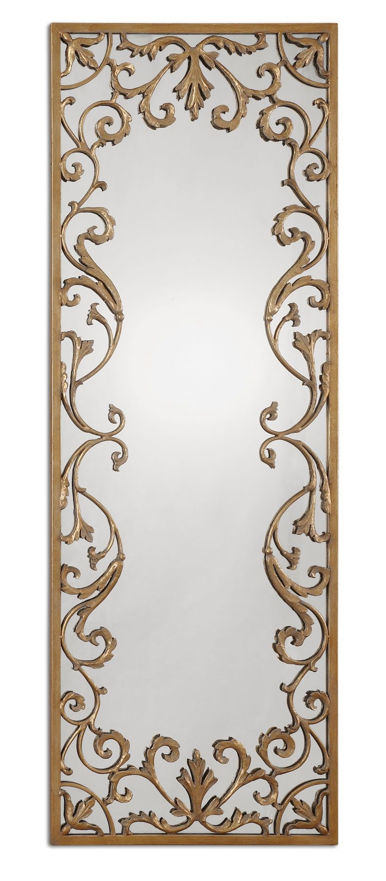 Apricena Decorative Gold Wall Mirror 68 X 245 Ebay For Long Gold Mirror (View 4 of 15)
