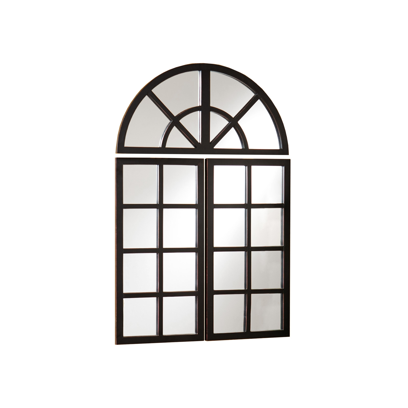 Arched Mirrored Window Panes Diy Window Pane Mirror Large In White Arched Window Mirror (Image 2 of 15)