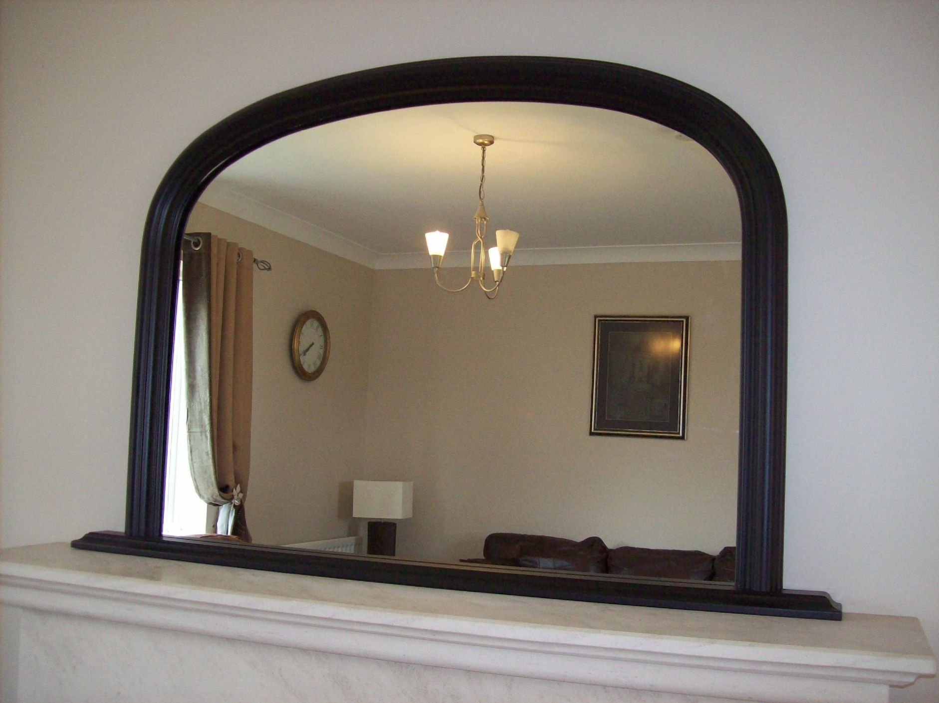 Arched Overmantle Mirror Within Over Mantel Mirror (Image 2 of 15)