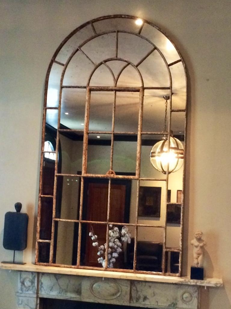 Arched Window Mirror Roselawnlutheran For Arched Mirror Window (Image 5 of 15)