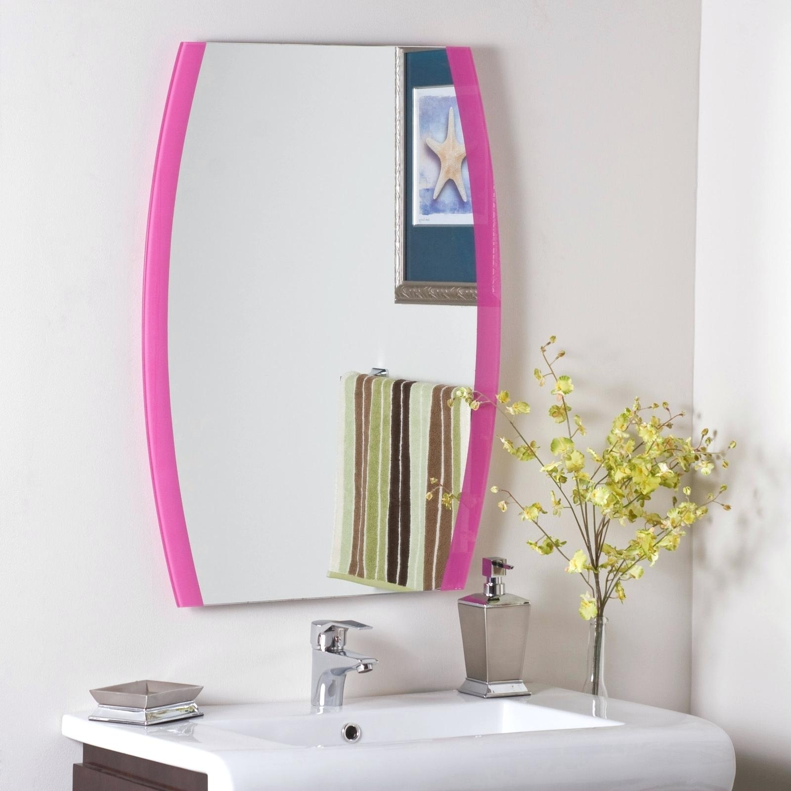 Arched Window Mirror With Shutters Elegant Arts And Frames Pink Pertaining To Wall Mirror With Shutters (Image 3 of 15)