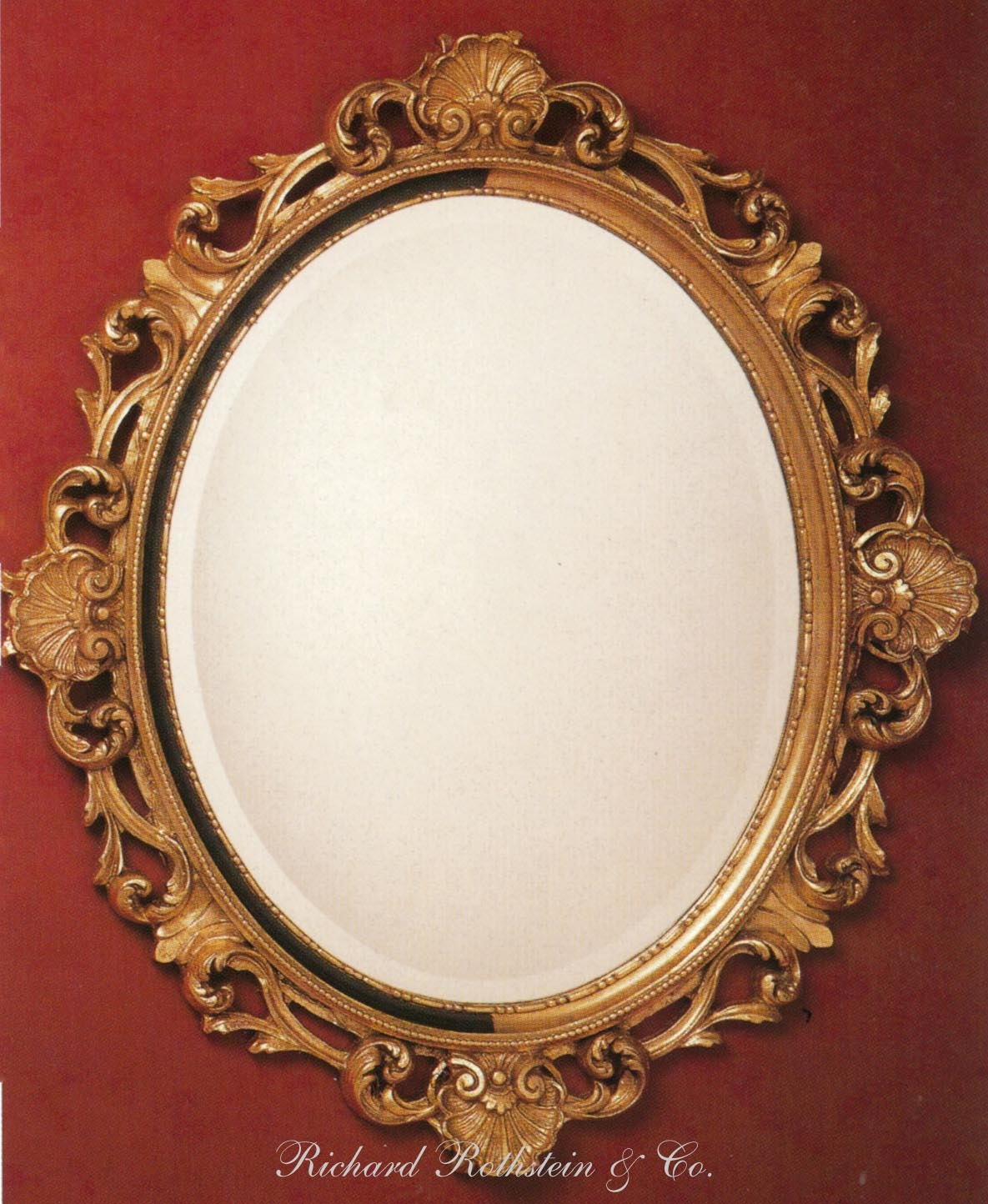 Are There Vertical Supports That Can Be Added For A Heavy Mirror With Oval French Mirror (Image 6 of 15)