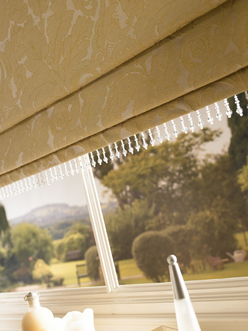 Arena Roman Blinds Jacinda Gold Home Style Blinds And Shutters Inside Gold Roman Blinds (Image 2 of 15)