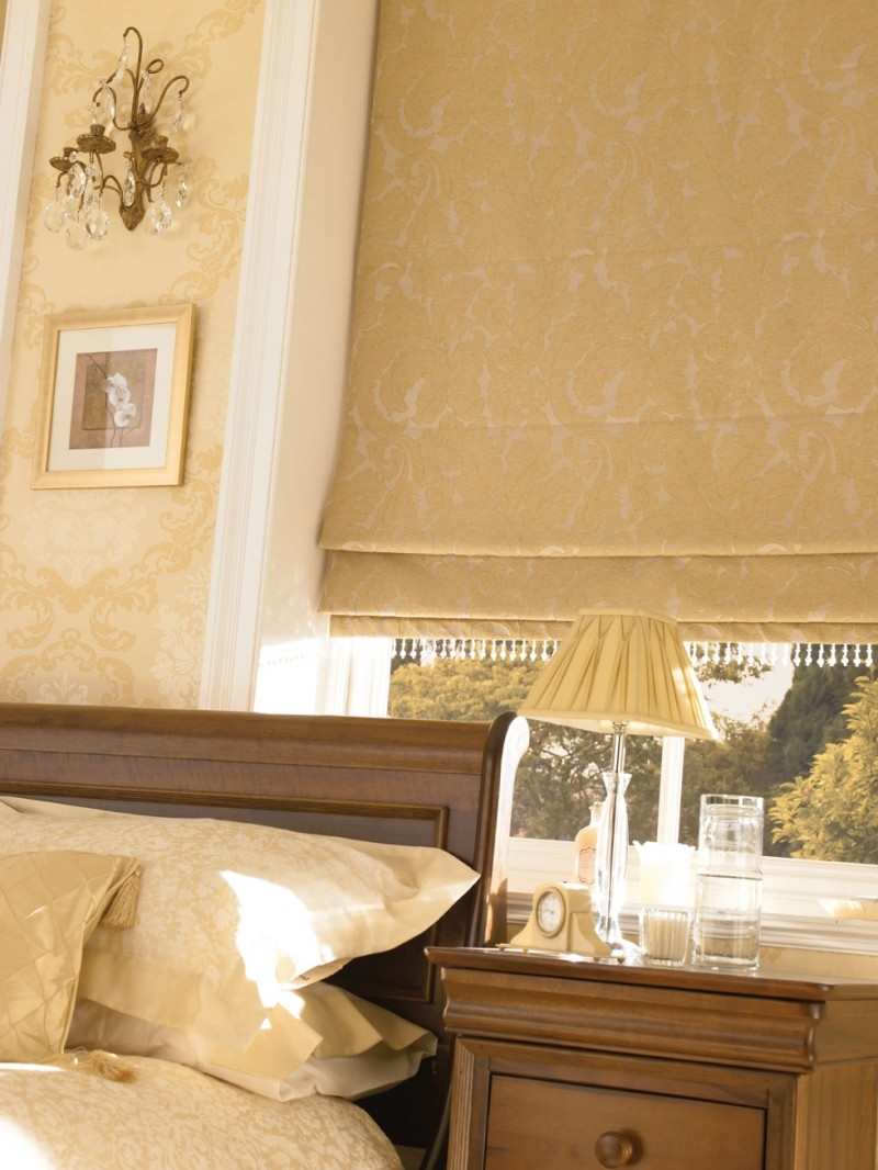 Featured Image of Gold Roman Blinds