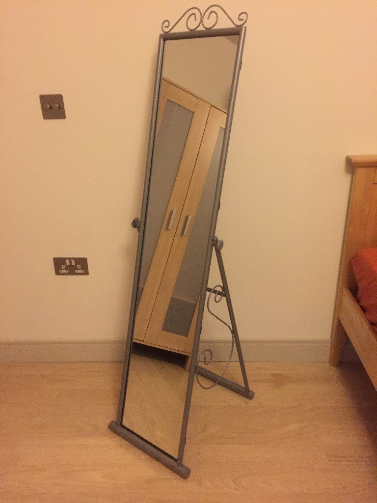 Argos Scroll Cheval Freestanding Mirror Silver In Salford Throughout Cheval Free Standing Mirror (Image 3 of 15)