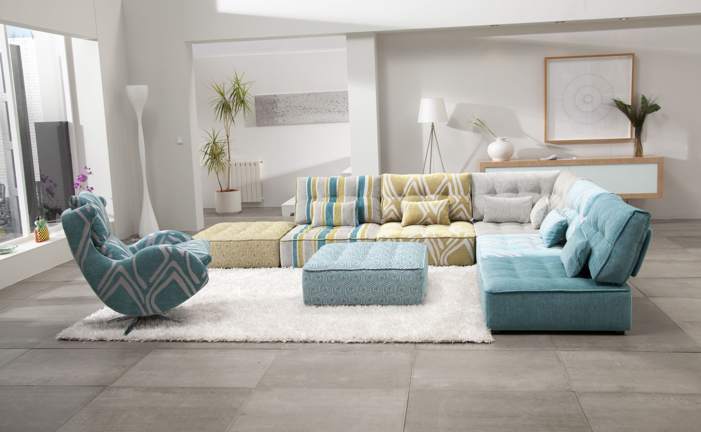 Arianne Modern Modular Sectional Sofa Fama Sofas In Colorful Sectional Sofas (View 12 of 15)