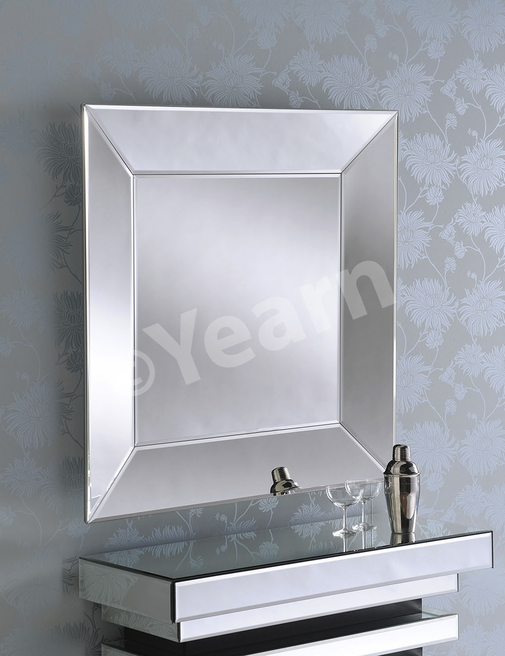 Art 56 Silver Mirror Mirror Elegance Regarding Silver Bevelled Mirror (View 4 of 15)