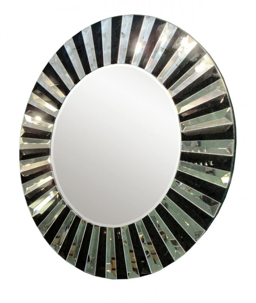 Art Deco Art 310 Art Deco Black And Silver Circular Mirror Www Throughout Round Art Deco Mirror (Image 2 of 15)