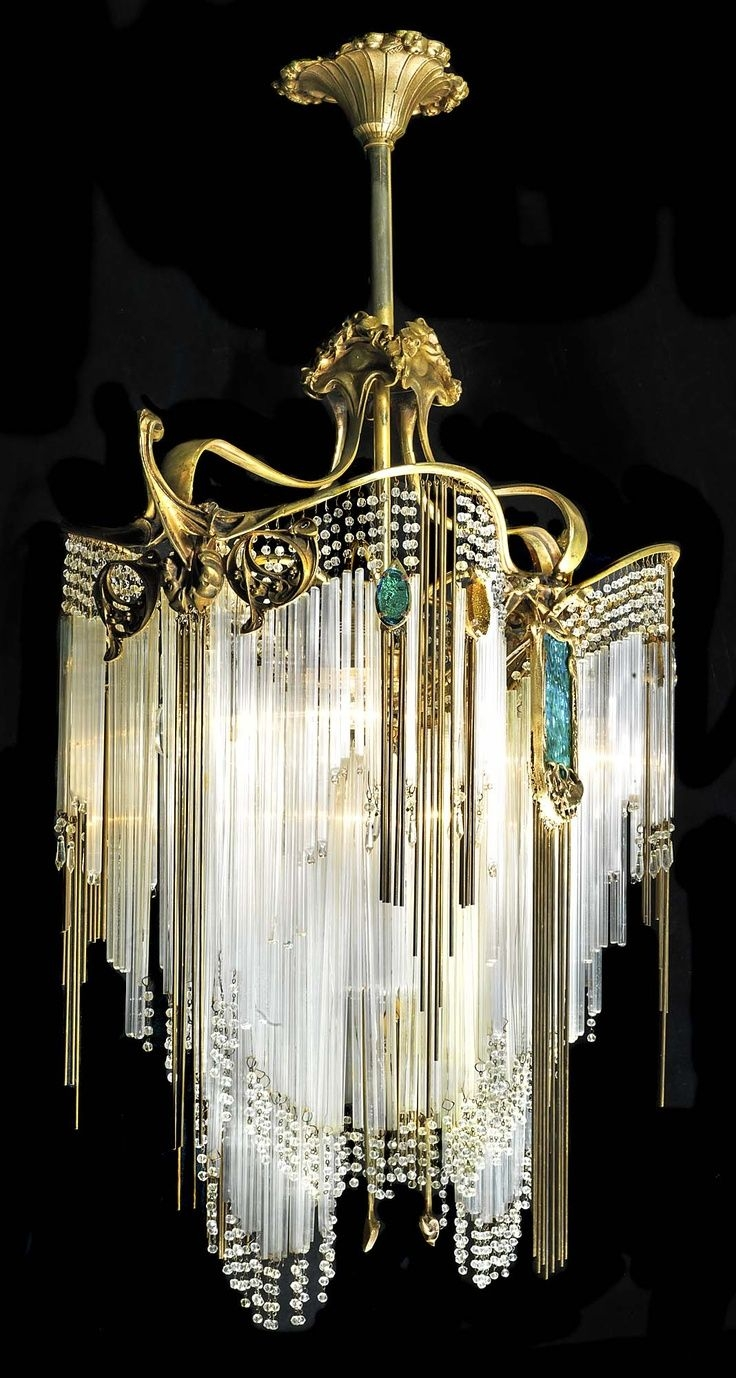 Art Deco Chandelier For Sale Modern Indoor Luxury Crystal With Regard To Large Art Deco Chandelier (Image 2 of 15)