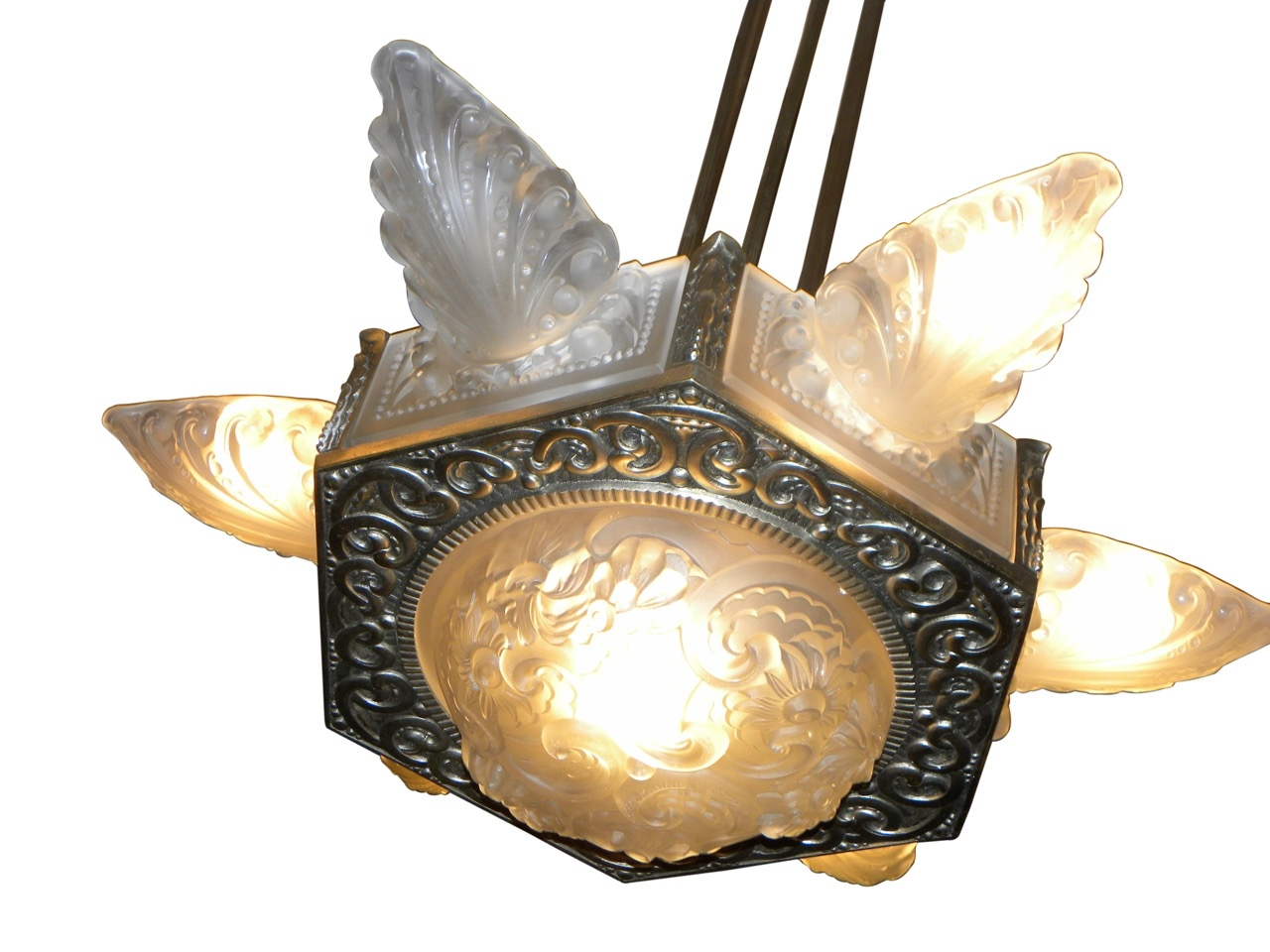Art Deco Lighting For Sale Chandeliers Art Deco Collection Pertaining To Large Art Deco Chandelier (Image 4 of 15)
