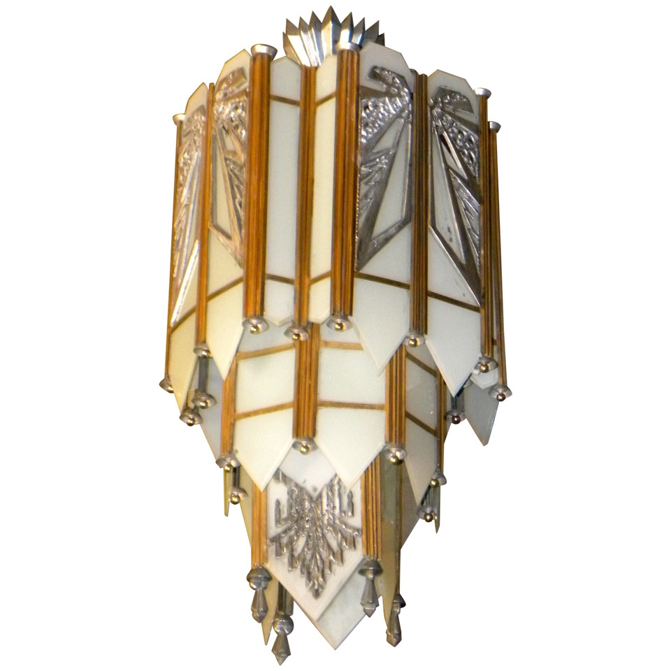 Art Deco Lighting Sold Chandeliers Art Deco Collection Pertaining To Art Deco Chandelier (Image 9 of 15)