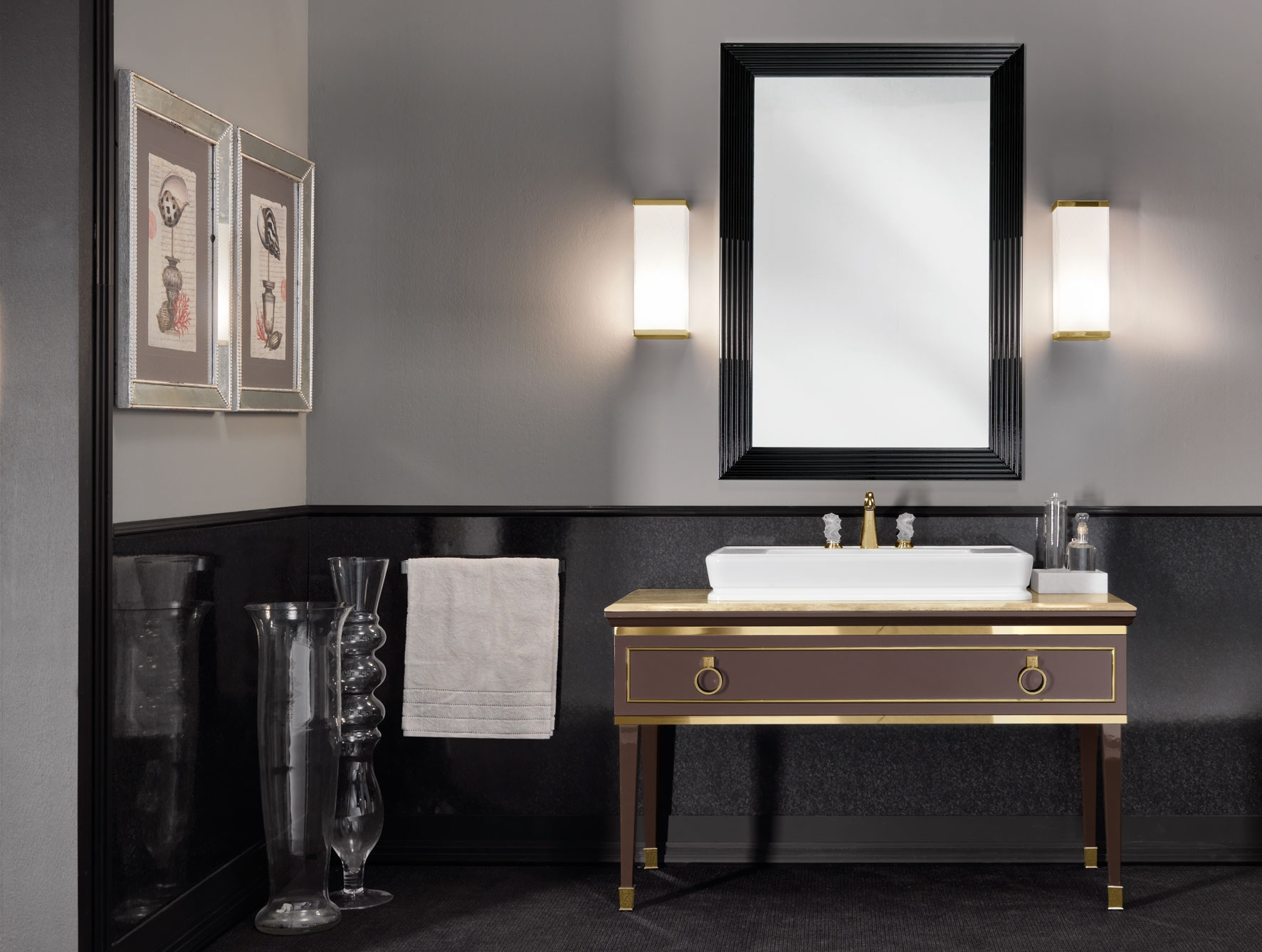 15 Inspirations Art Deco Style Bathroom Mirrors