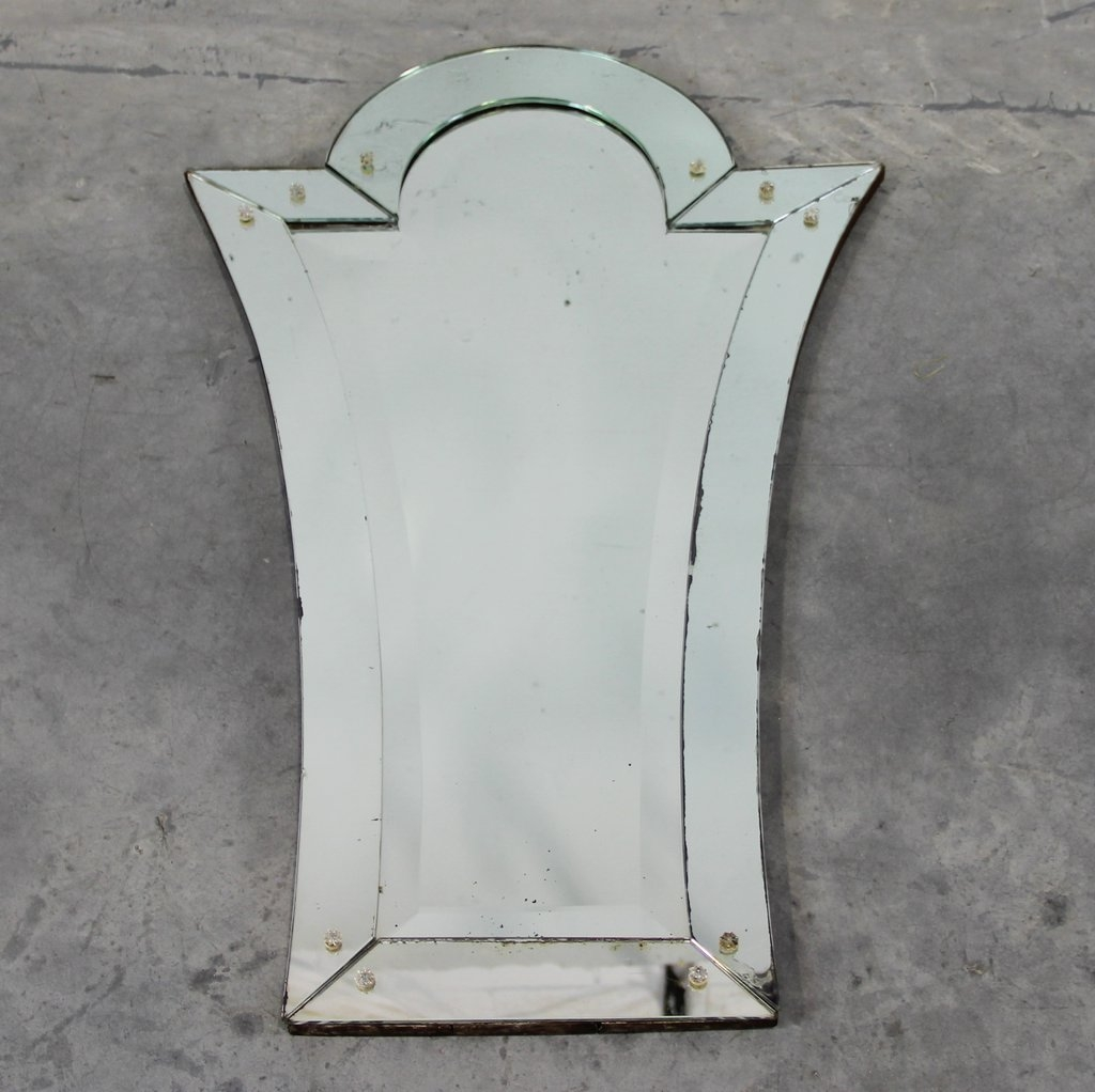 Art Deco Venetian Mirror For Sale At Pamono In Art Deco Venetian Mirror (View 5 of 15)