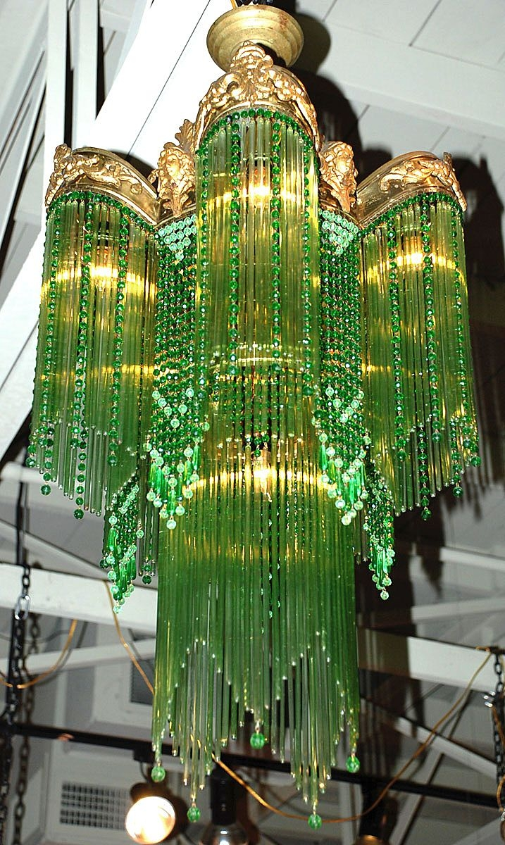 Art Nouveau Chandelier Sold On Ru Lane Within Large Art Deco Chandelier (Image 7 of 15)