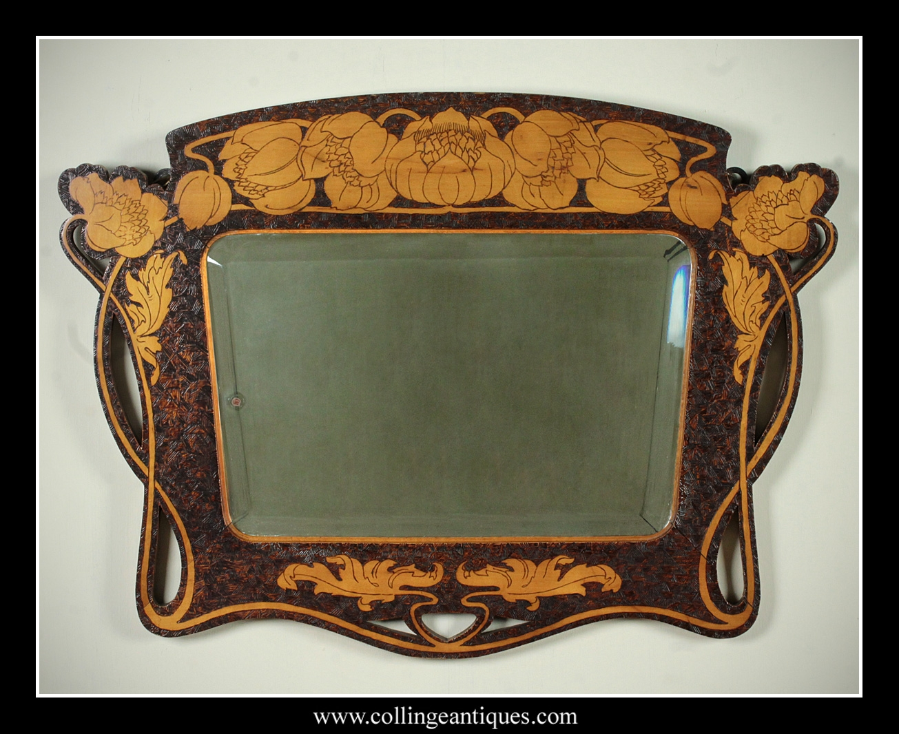 Art Nouveau Wall Mirror Inarace With Regard To Art Nouveau Mirrors (View 6 of 15)