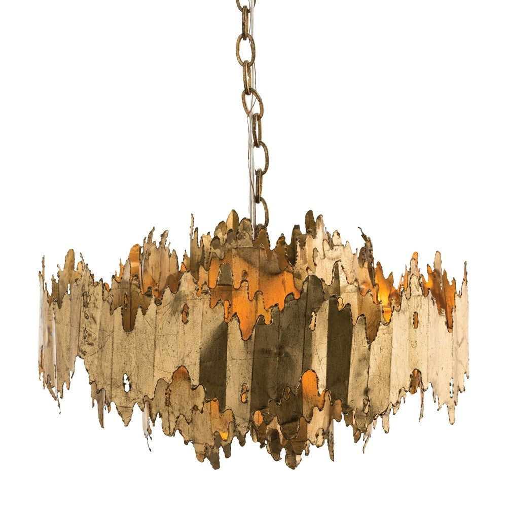 Arteriors 86800 Payne 7 Light Chandelier In Gold Leaf Homeclick In Gold Leaf Chandelier (Image 1 of 15)