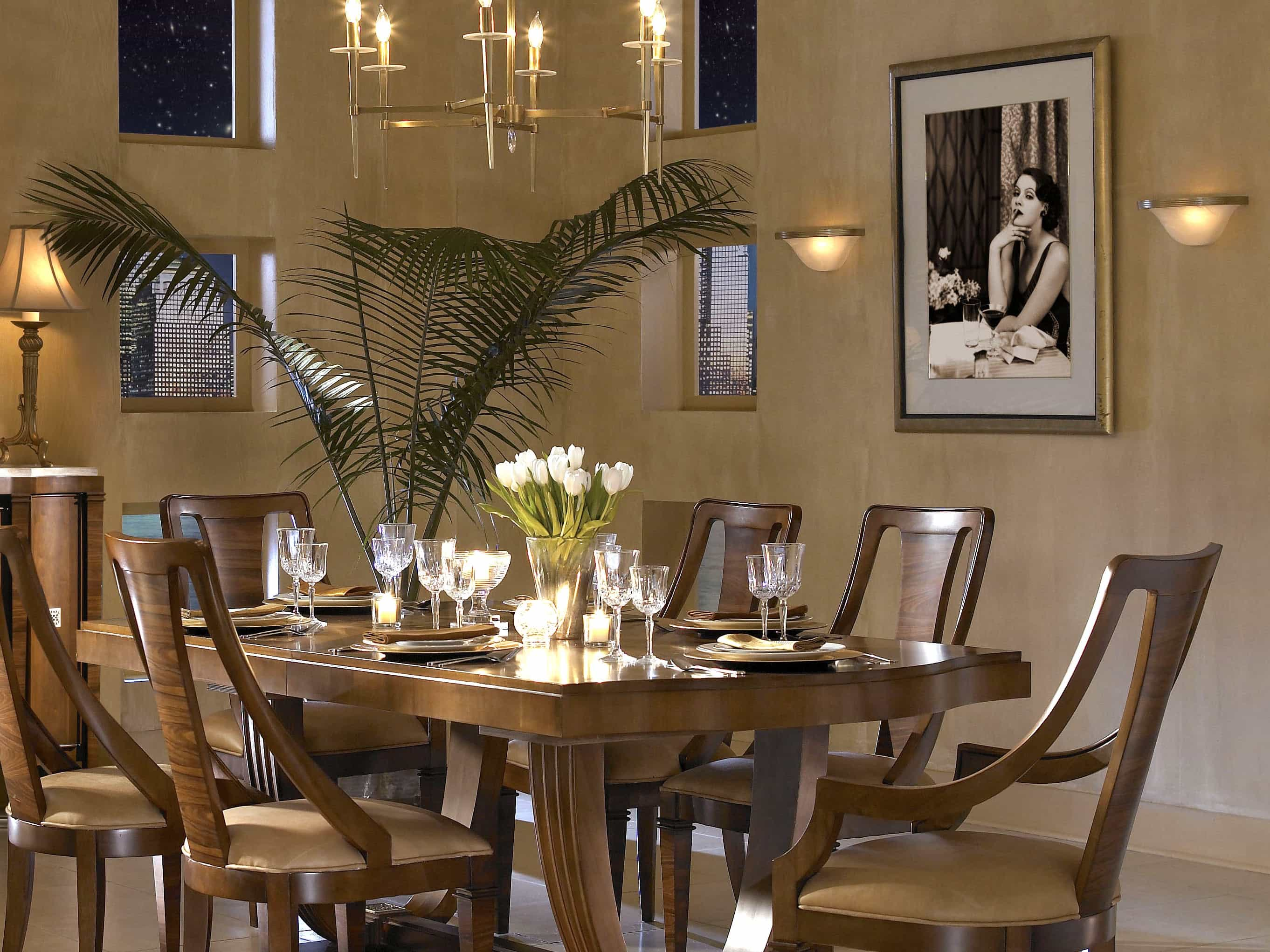 Featured Image of Artificial Light Candlelight Chandelier For Modern Wooden Dining Room