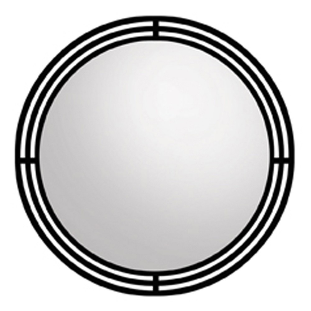 Asana Round Wrougth Iron Framed Wall Mirror Mr708 Native Trails For Black Wrought Iron Mirror (Image 3 of 15)